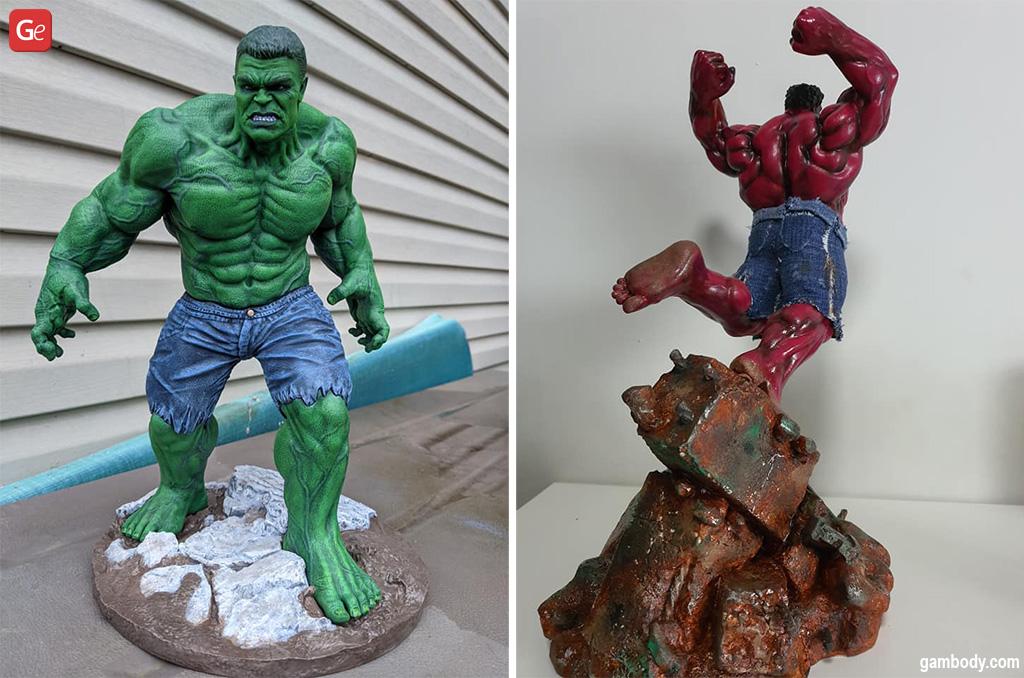 Hulk Ragnarok Marvel MCU 3D printed statue
