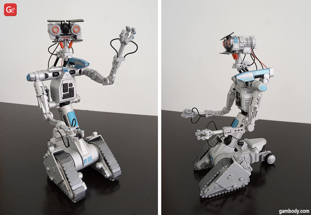 Johnny 5 movie characters to 3D print