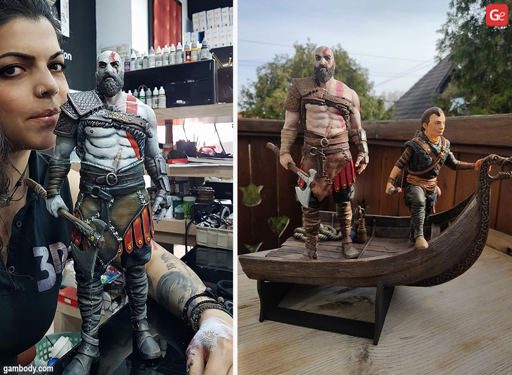 Kratos 3D prints cool things to make for gamers