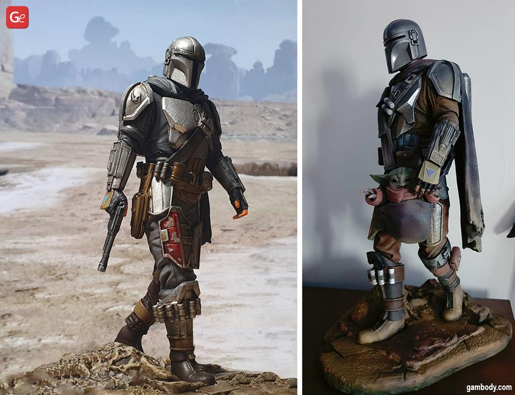 Mandalorian full beskar armor figure