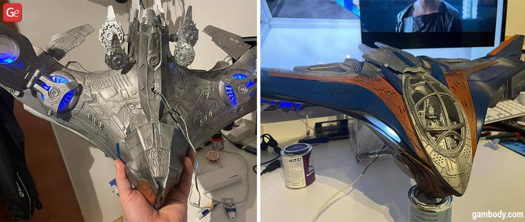 Milano ship 3D printed Marvel 3D model