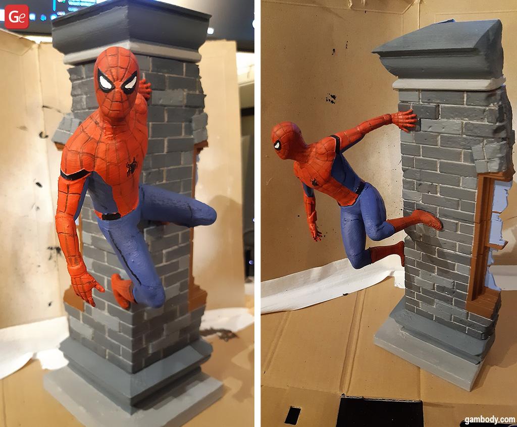 Spider-Man Wall Crawler made on a 3D printer