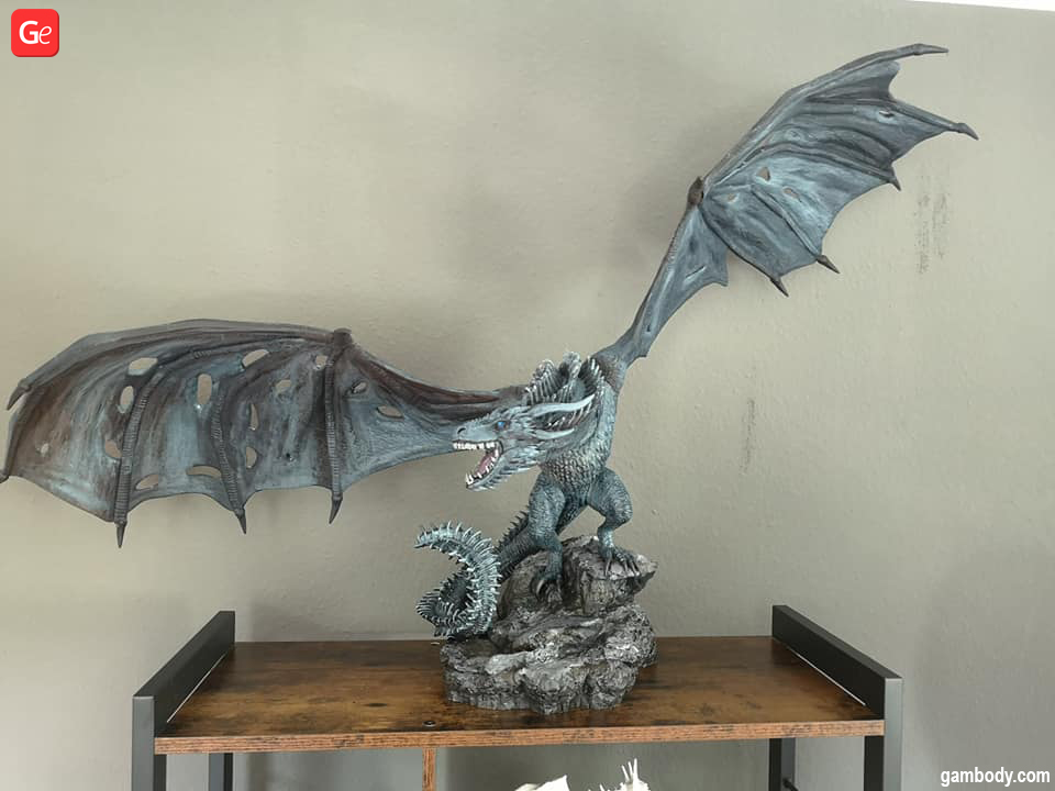 Viserion dragon movie characters for 3D printing