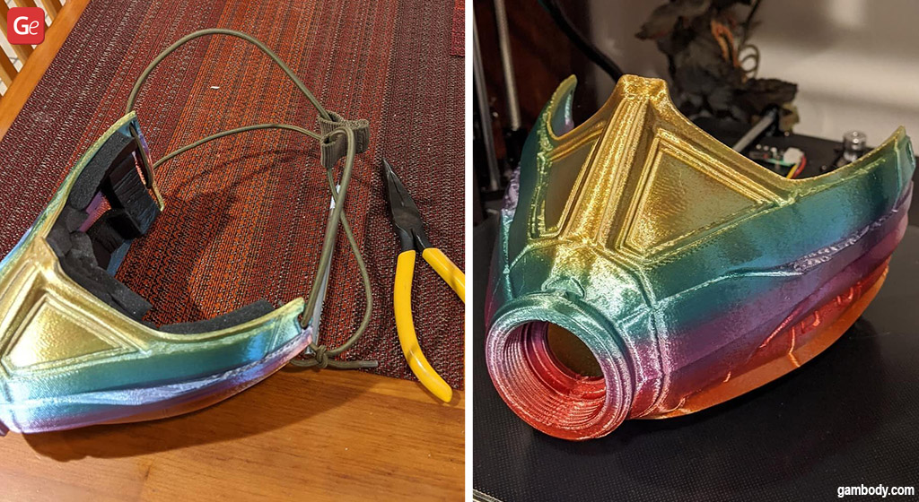 Rainbow Wasp mask cool Marvel stuff to 3D print