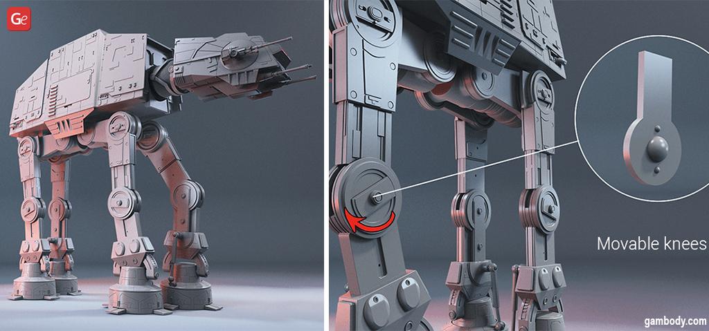 Posable 3D model AT-AT Walker