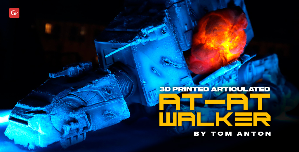 3D Printed Articulated AT-AT Walker Action Figure: Star Wars Crafts by Tom Anton