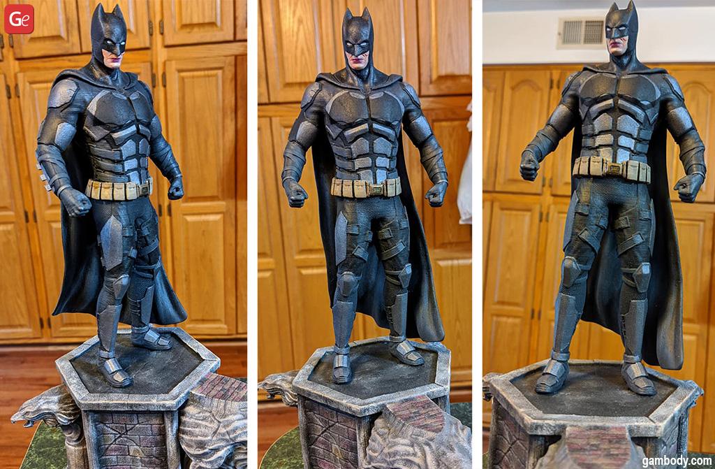 3D printed Batman statue