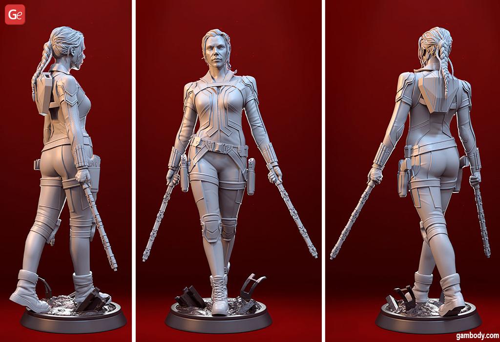 Black Widow Marvel 3D model