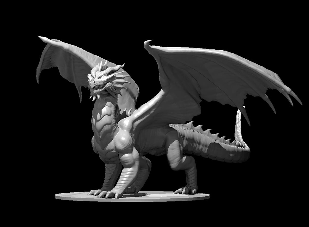 D&D dragon statue for 3D printing
