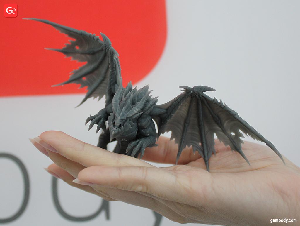 DnD dragon 3D printed