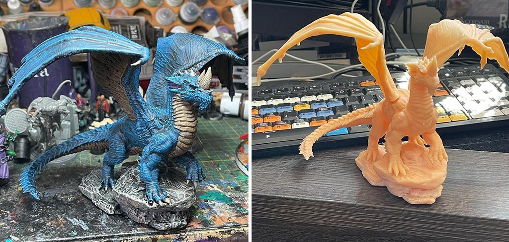 Blue DnD dragon 3D print