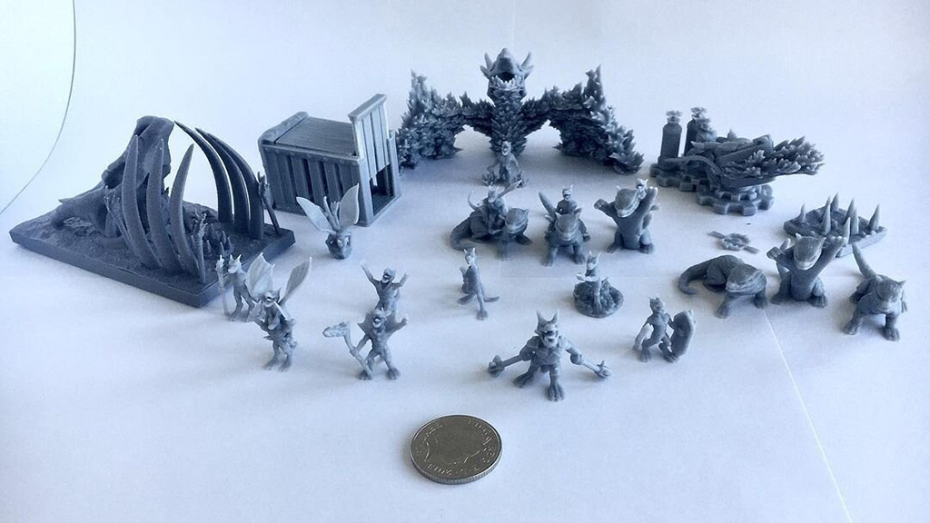 3D printed DnD pieces