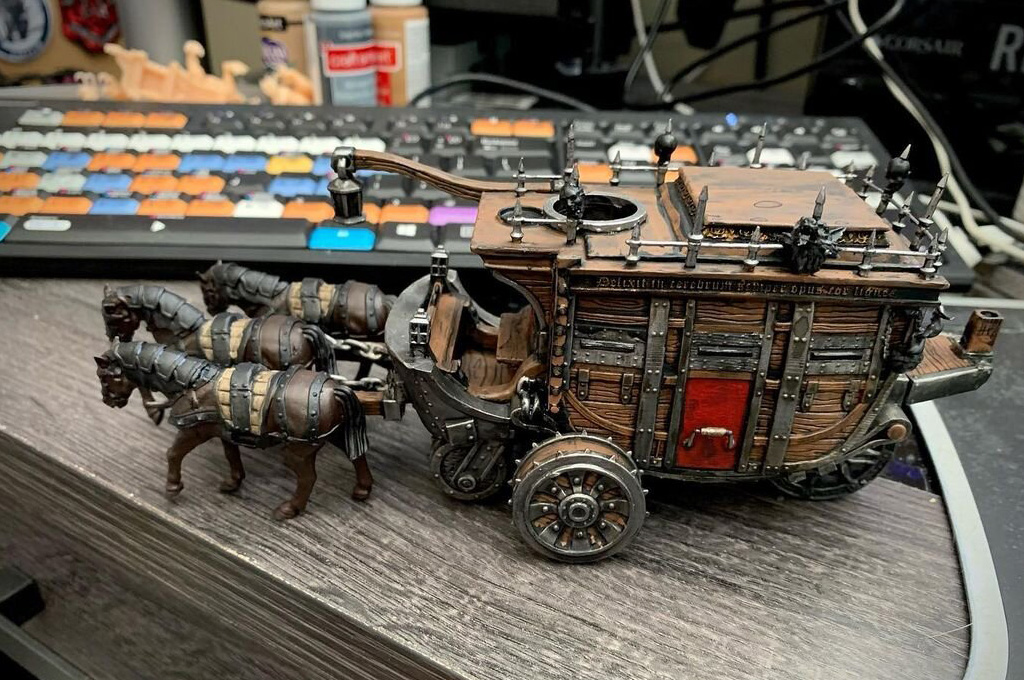 Dungeons and Dragons pieces 3D printed coach