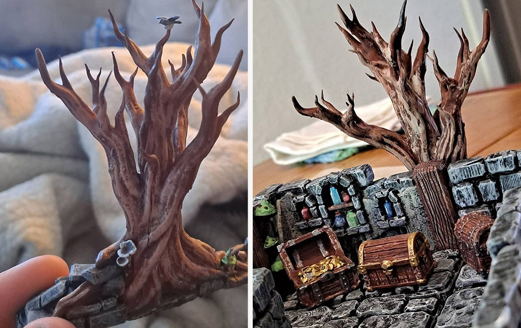 Dungeons and Dragons props 3D printed tree
