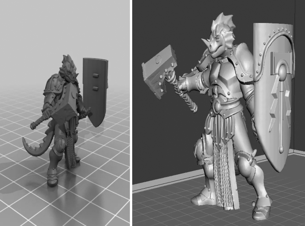 Dungeons and Dragons dragonborn piece for 3D printing