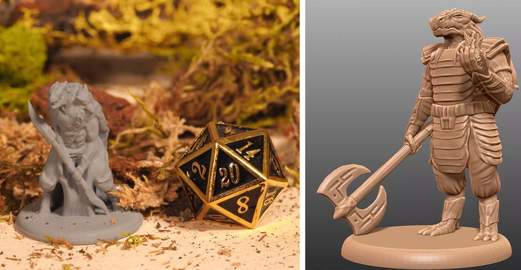 Dnd dragonborn props you can 3D print
