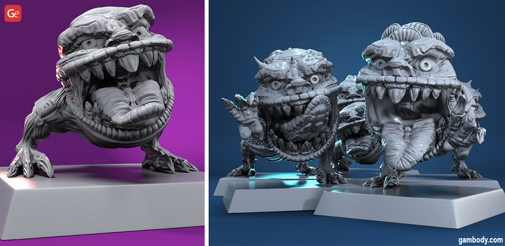 DnD monsters for 3D printing Squiggly Beasts STL files
