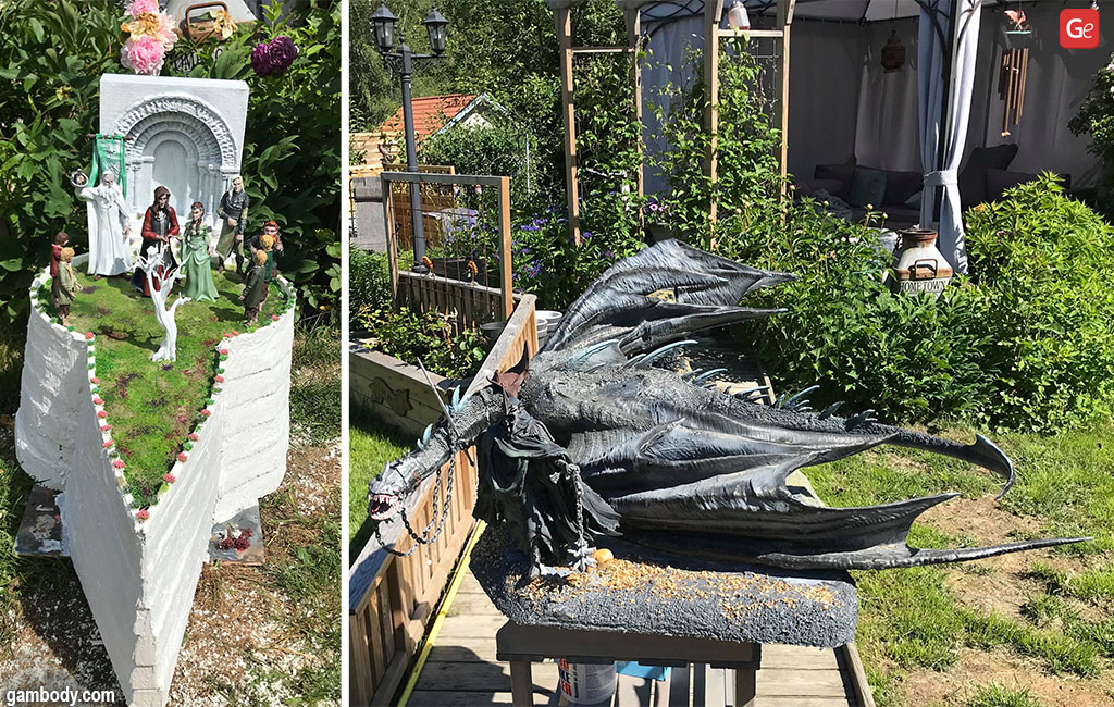 Hobbit miniatures and large-scale Fell beast cool 3D prints