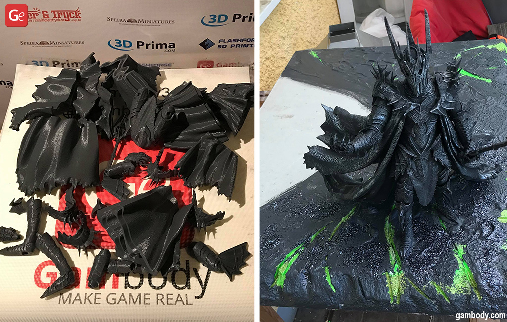 Lord of the Rings collection 3D print of Sauron