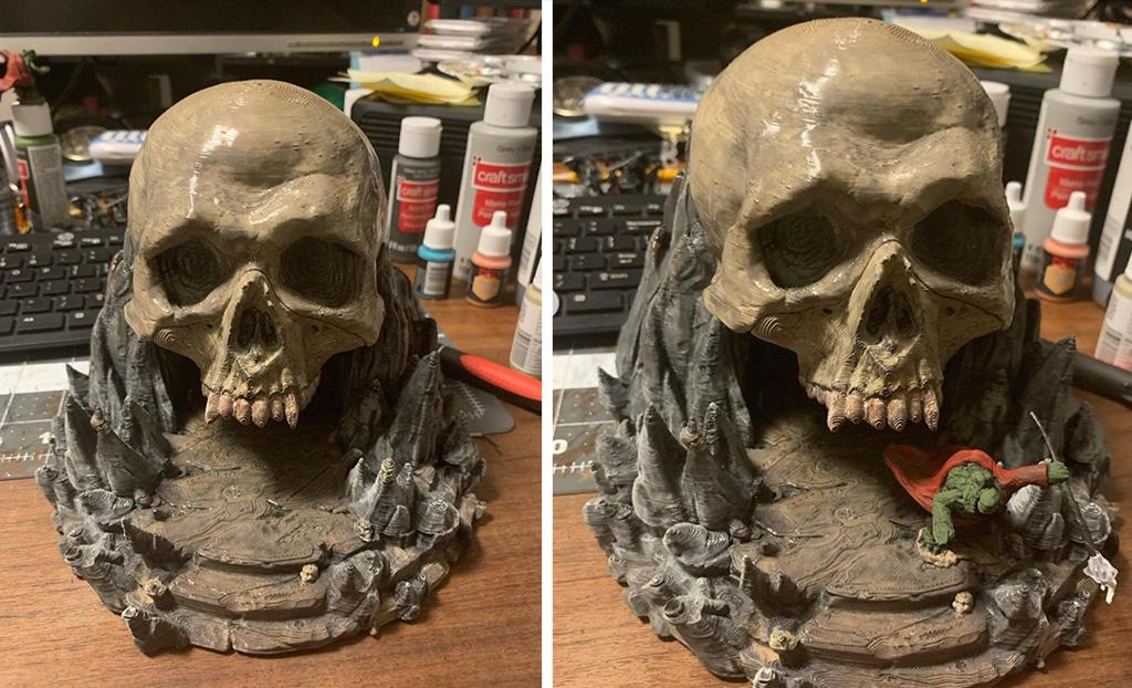 D&D world skull cave 3D print