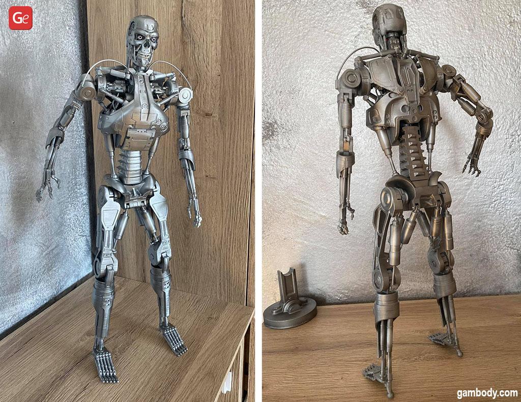 T-800 Endoskeleton 3D printed statue