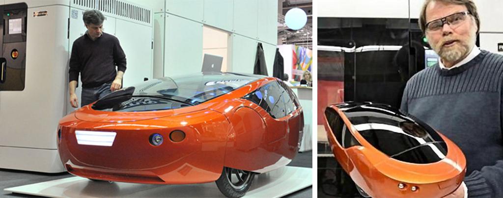 3D printing car parts Urbee 2
