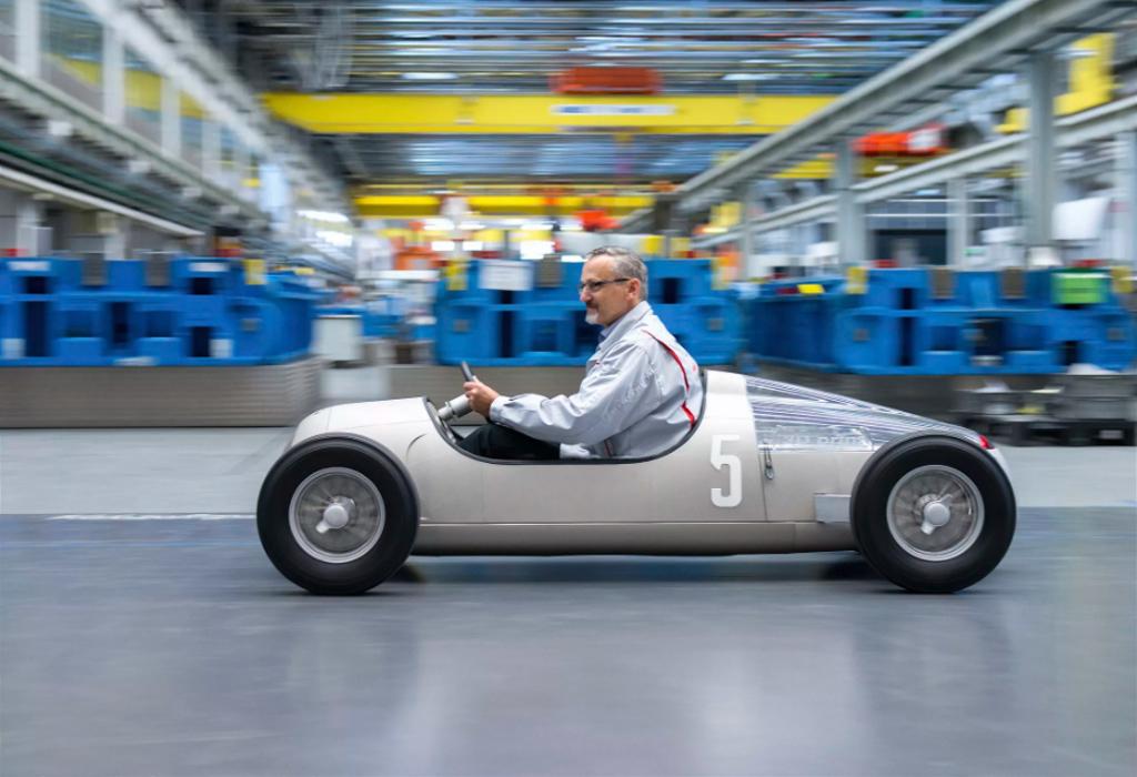 3D printed car 1938 Grand Prix Auto Union Type C
