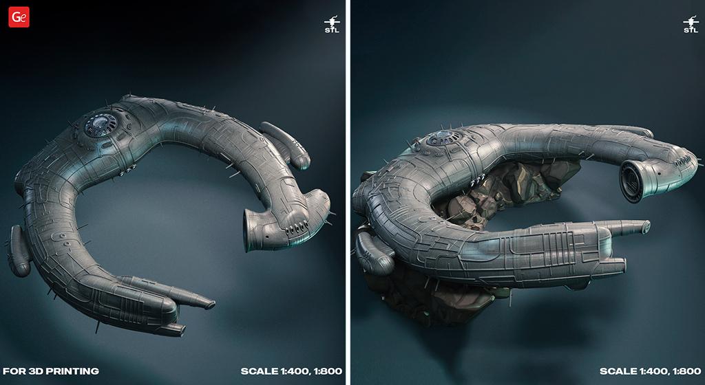 Alien Juggernaut 3D printing vessel