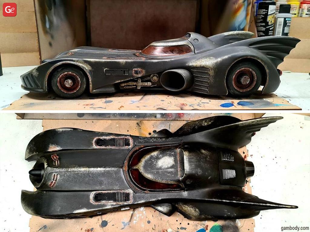 Batmobile car 3D model printed