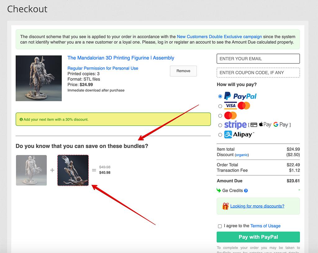 Gambody Bundle Jam checkout page