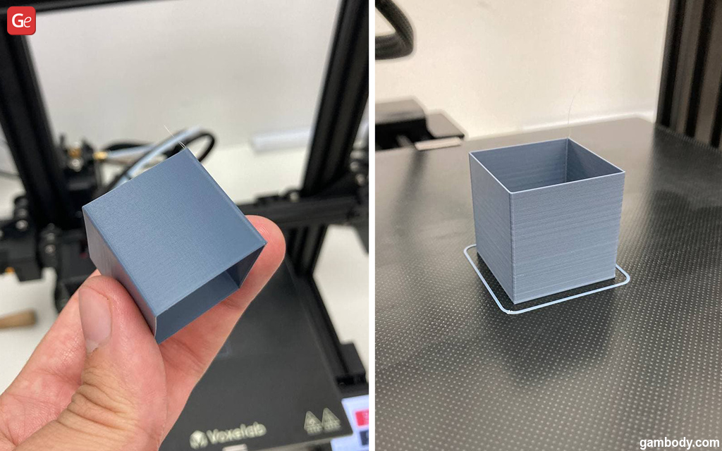 20mm 3D printer cube test