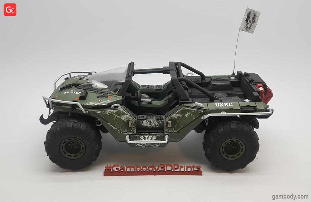 Warthog 3D printed car model