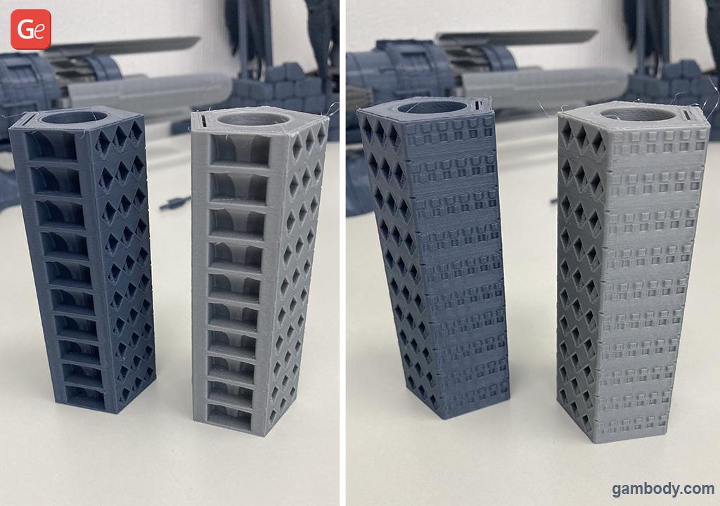 3D printing temp tower test