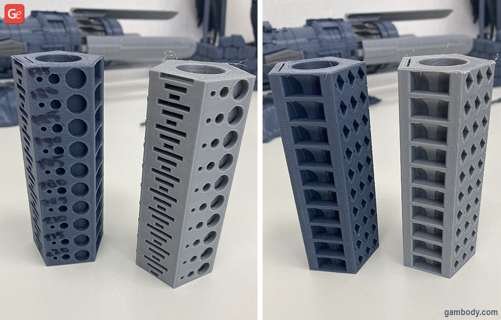 Anycubic Vyper temperature tower test print