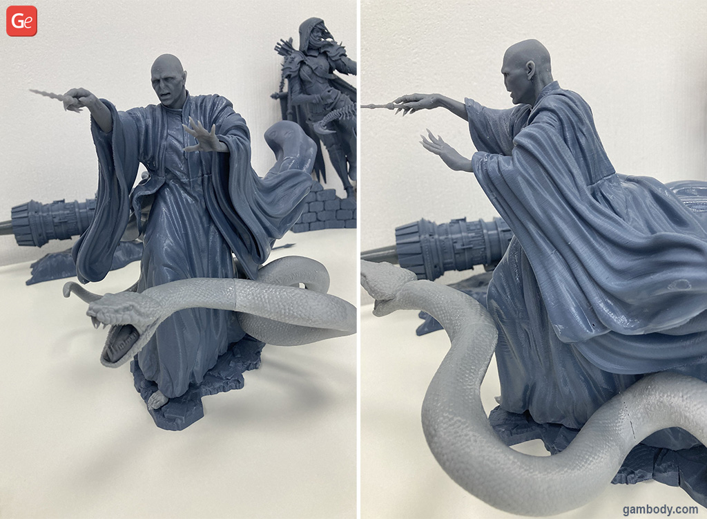 Lord Voldemort 3D print in PLA on Anycubic Vyper