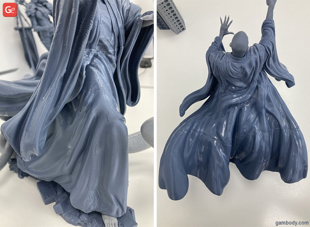 3D printed Lord Voldemort figurine