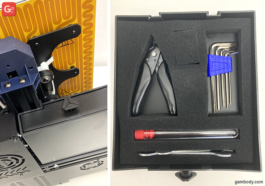 Anycubic 3D printer integrated toolbox