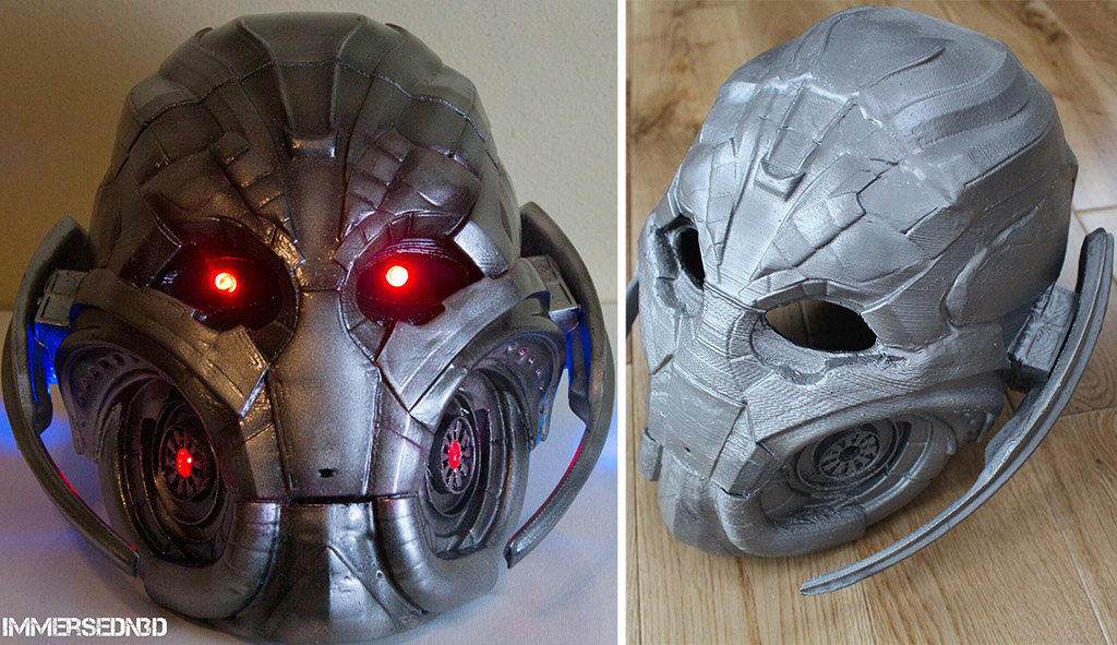 Avengers Age of Ultron mask 3D printed for Halloween
