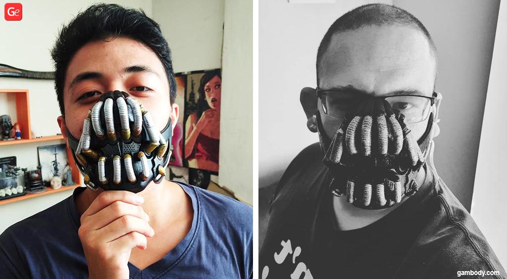 3D printable Bane mask for Halloween