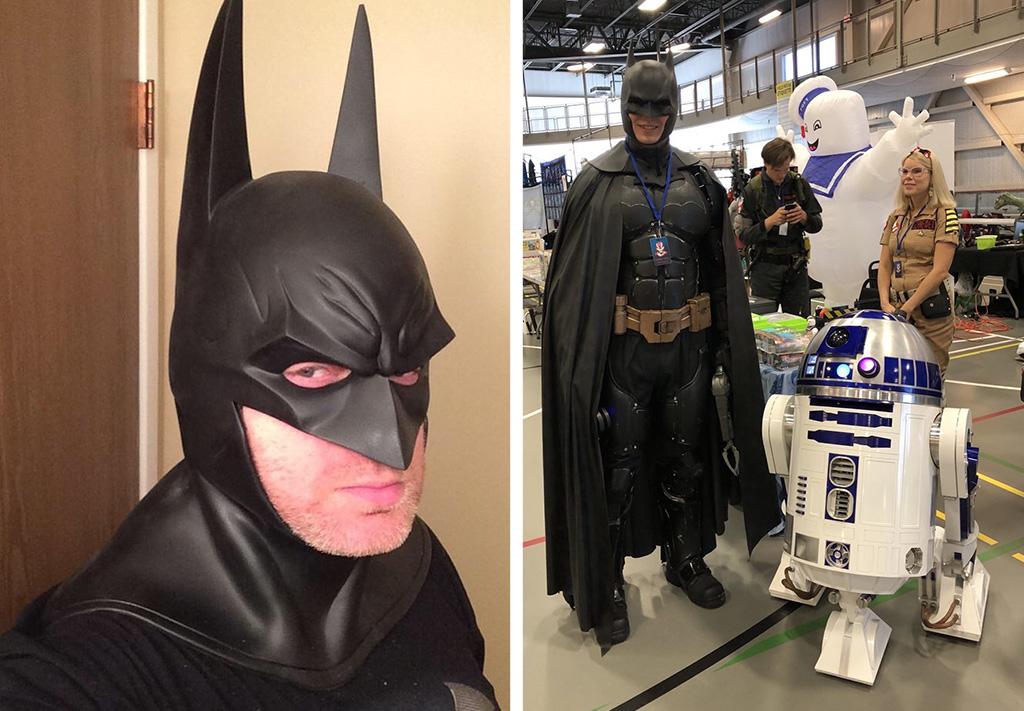 3D printed Batman cosplay costume