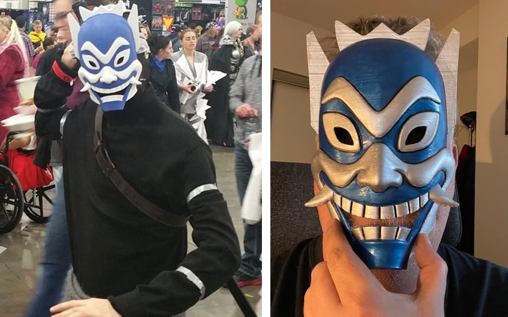 Blue Spirit mask for 3D printing