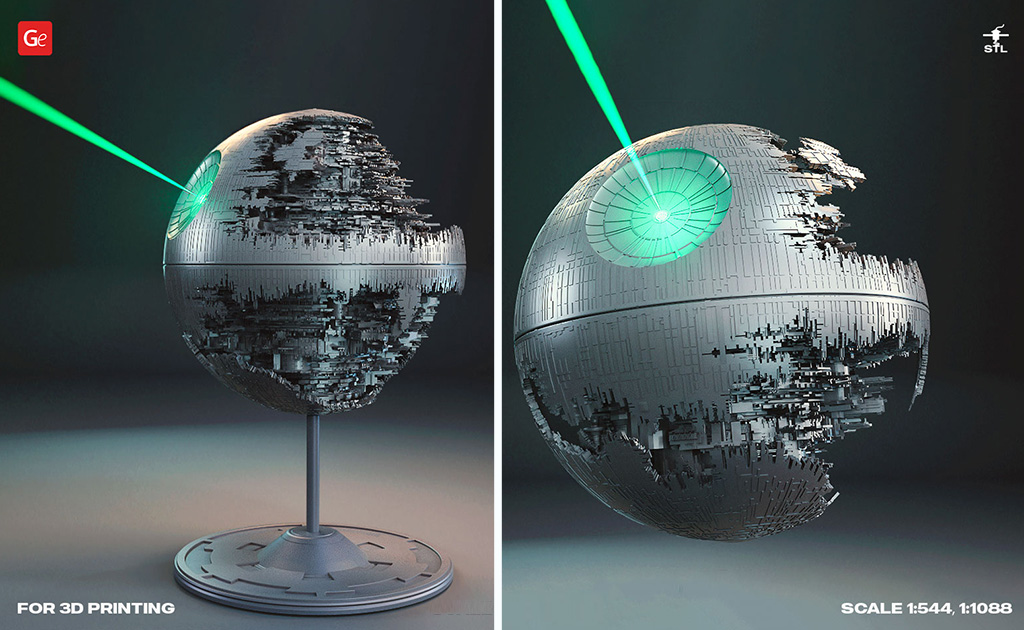 Death Star 3D model for printing