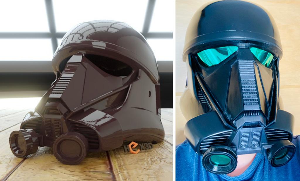 Death Trooper mask 3D printed Star Wars Halloween