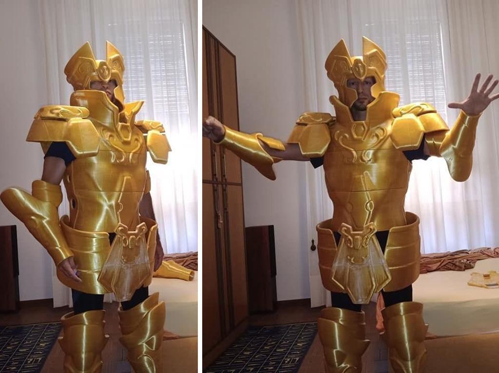Gemini Saga costume 3D printed for cosplay or Halloween