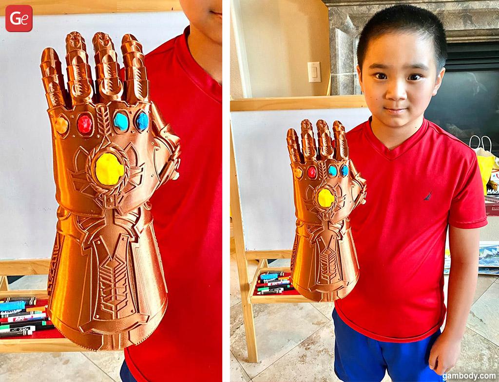 Infinity Gauntlet Glove Halloween 3D printed props