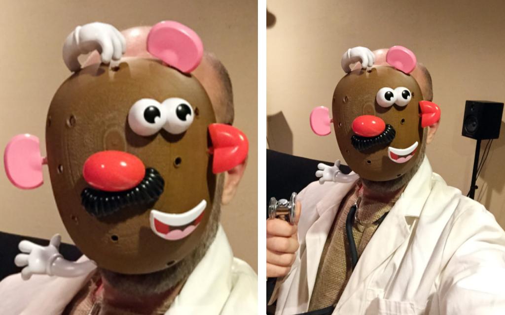 Mr Potato Head Mask 3D printed for Halloween