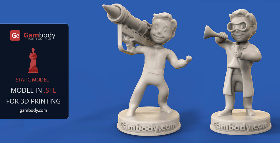 Buy Vault Boy: Big Guns and Chemist 3D Print Files | Static Figures