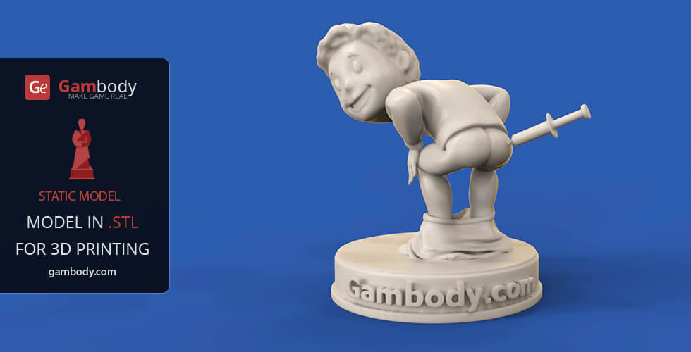 Buy Vault Boy 3D Printing Model | Static Model