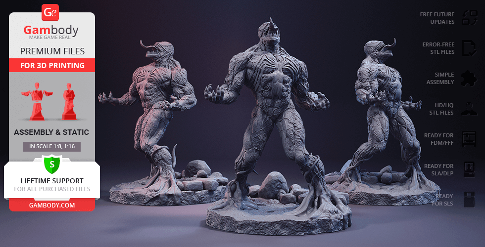 Buy Venom 3D Printing Figurine | Assembly