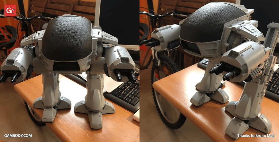 Buy ED-209 (1987) 3D Printing Model | Assembly + Action